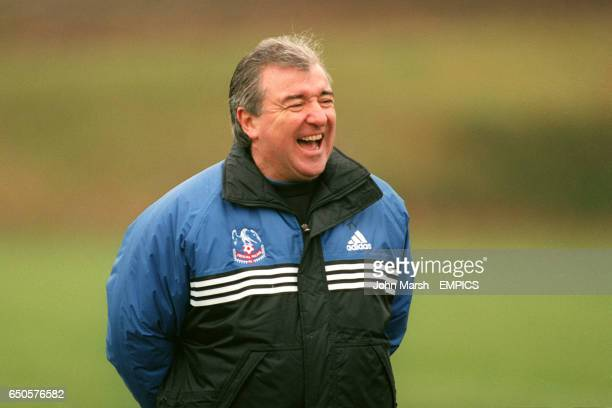 Crystal Palace manager Terry Venables has a laugh during training