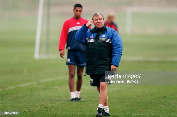 Crystal Palace manager Terry Venables tells his players to think during training