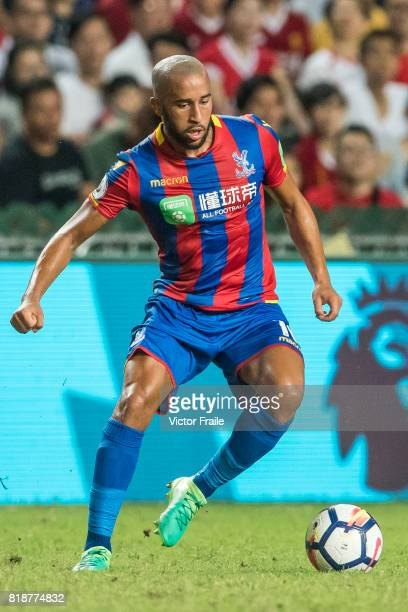Crystal Palace midfielder Andros Townsend in action during the Premier League Asia Trophy match between Liverpool FC and Crystal Palace at Hong Kong...