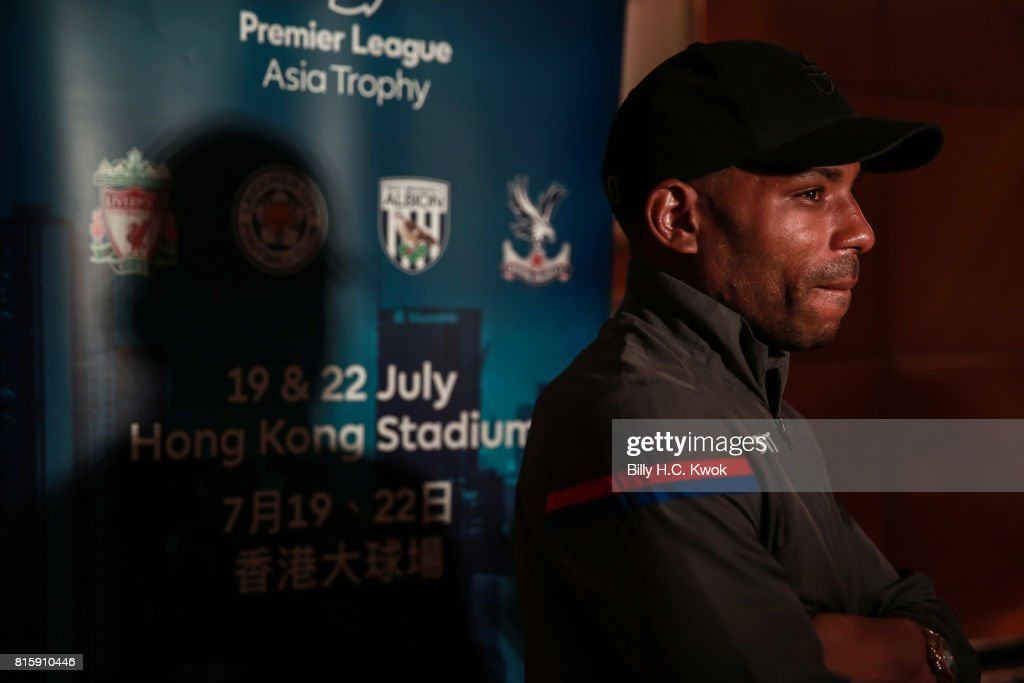 Crystal Palace player Jason Puncheon speaks to media on arrival in Hong Kong on July 17, 2017 ahead of the Premier League Asia Trophy, which takes place this week. Crystal Palace, Leicester City and West Bromwich Albion will also compete in the tournament on 19 and 22 July at the Hong Kong stadium.