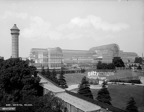 Crystal Palace Sydenham London c1870c1900 The Crystal Palace viewed here with its water tower was moved to Sydenham following the Great Exhibition of...