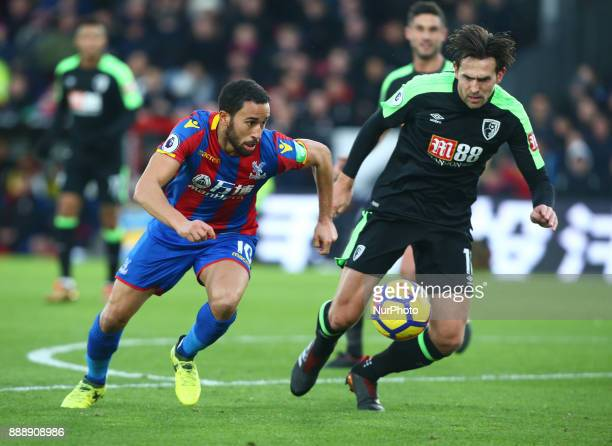 Crystal Palace's Andros Townsend during Premier League match between Crystal Palace and AFC Bournemouth at Selhurst Park Stadium London England 09...