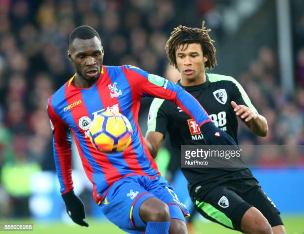 Crystal Palace's Christian Benteke and Bournemouth's Nathan Axe during Premier League match between Crystal Palace and AFC Bournemouth at Selhurst...