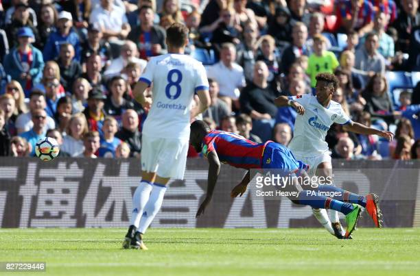 Crystal Palace's Christian Benteke scores their first goal during the preseason friendly match at Selhurst Park London
