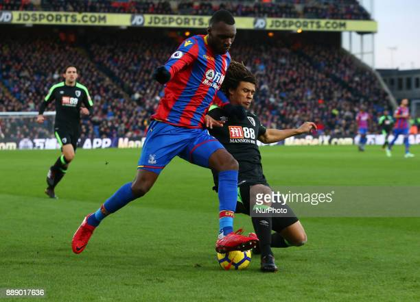 Crystal Palace's Christian Benteke under pressure from Bournemouth's Nathan Axe during Premier League match between Crystal Palace and AFC...