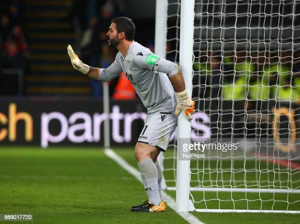 Crystal Palace's Julian Speroni during Premier League match between Crystal Palace and AFC Bournemouth at Selhurst Park Stadium London England 09 Dec...