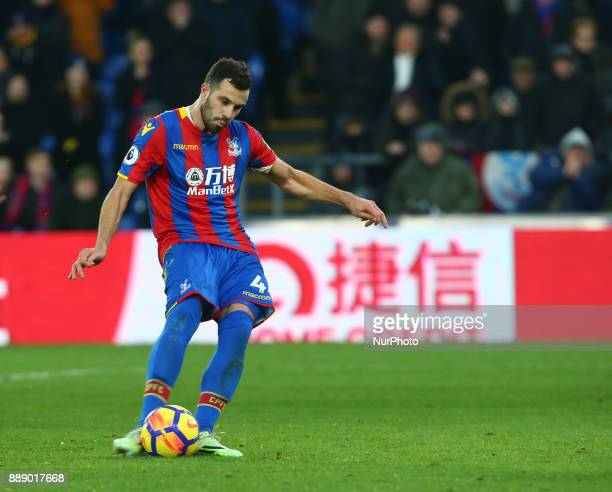 Crystal Palace's Luka Milivojevic scores from the penalty spot during Premier League match between Crystal Palace and AFC Bournemouth at Selhurst...
