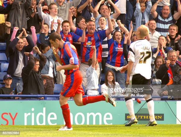 Crystal Palace's Mark Kennedy celebrates after scoring their second goal of the match