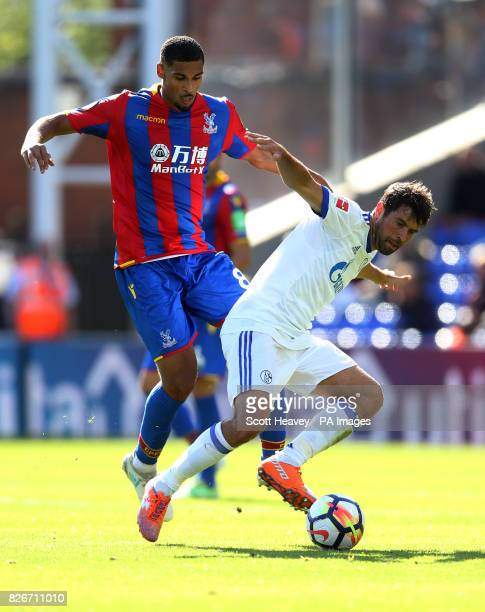 Crystal Palace's Ruben Loftus Cheek and Schalke's Coke during the preseason friendly match at Selhurst Park London