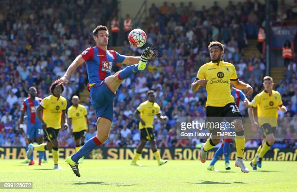 Crystal Palace's Scott Dann and Aston Villa's Jordan Amavi