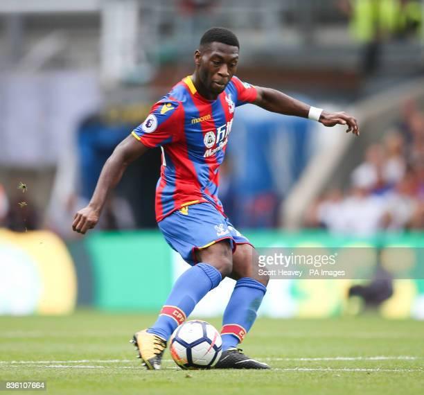 Crystal Palace's Timothy Fosu Mensah during the Premier League match at Selhurst Park London