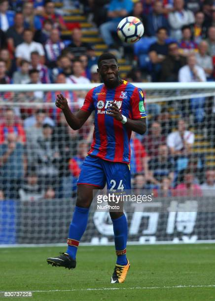 Crystal Palace's Timothy FosuMensah during Premier League match between Crystal Palace and Huddersfield Town at Selhurst Park Stadium London England...