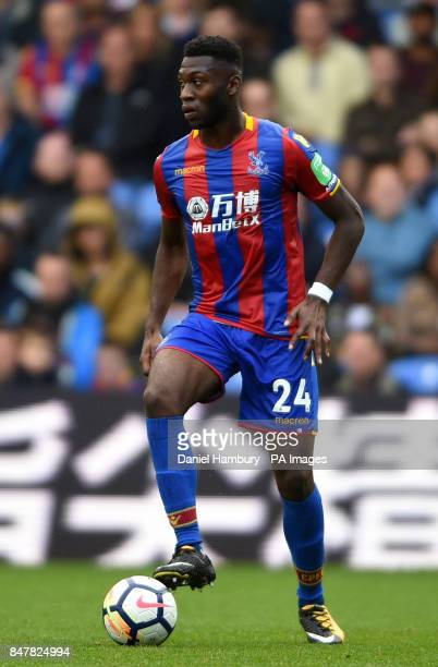 Crystal Palace's Timothy FosuMensah during the Premier League match at Selhurst Park London