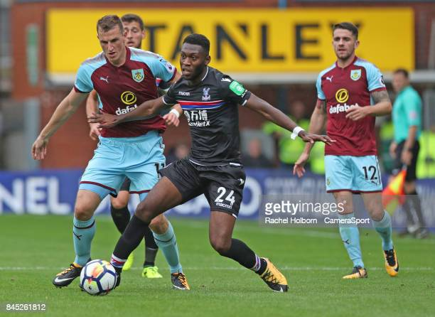 Crystal Palace's Timothy FosuMensah during the Premier League match between Burnley and Crystal Palace at Turf Moor on September 10 2017 in Burnley...
