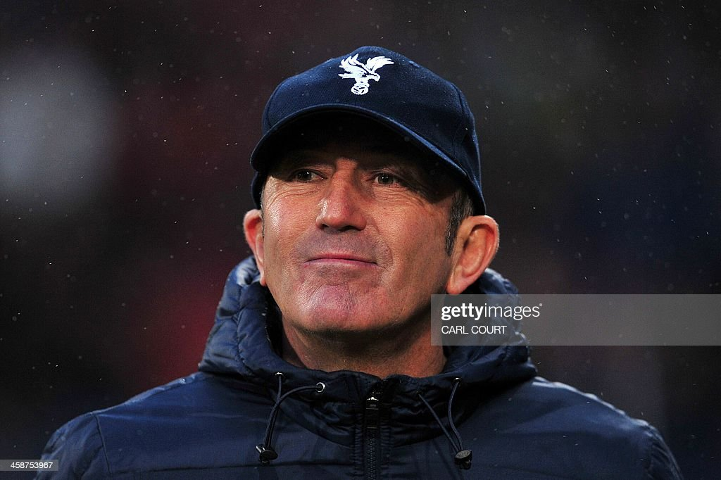 Crystal Palace's Welsh manager Tony Pulis is pictured during the English Premier League football match between Crystal Palace and Newcastle United at Selhurst Park Stadium, South London on December 21, 2013. USE. No use with unauthorized audio, video, data, fixture lists, club/league logos or live services. Online in-match use limited to 45 images, no video emulation. No use in betting, games or single club/league/player publications.