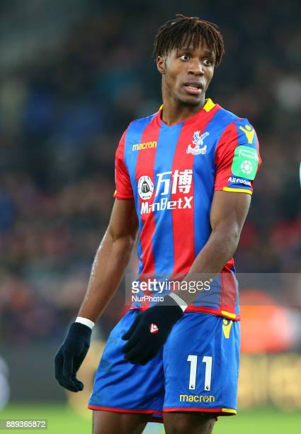 Crystal Palace's Wilfried Zaha during Premier League match between Crystal Palace and AFC Bournemouth at Selhurst Park Stadium London England 09 Dec...