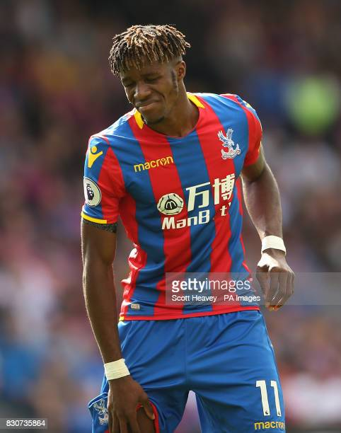 Crystal Palace's Wilfried Zaha during the Premier League match at Selhurst Park London
