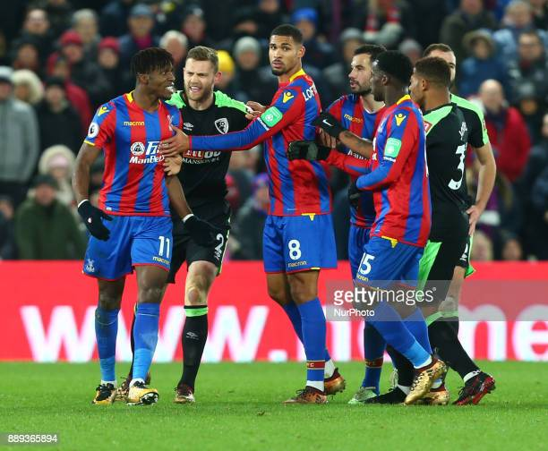 Crystal Palace's Wilfried Zaha losing it during Premier League match between Crystal Palace and AFC Bournemouth at Selhurst Park Stadium London...