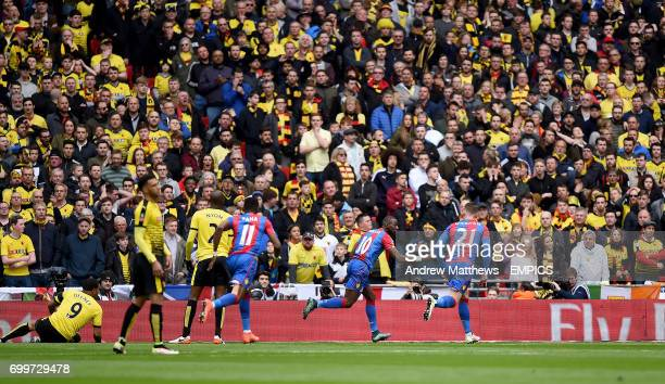 Crystal Palace's Yannick Bolasie celebrates scoring his side's first goal of the game