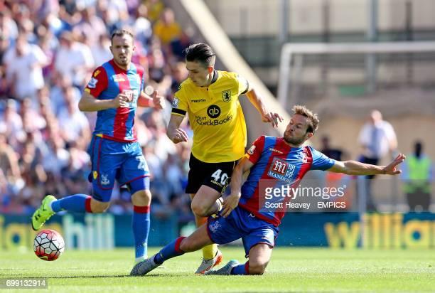 Crystal Palace's Yohan Cabaye tackles Aston Villa's Jack Grealish