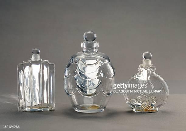 Crystal perfume bottles Baccarat glassworks France 20th century Paris Musée Des Arts Decoratifs