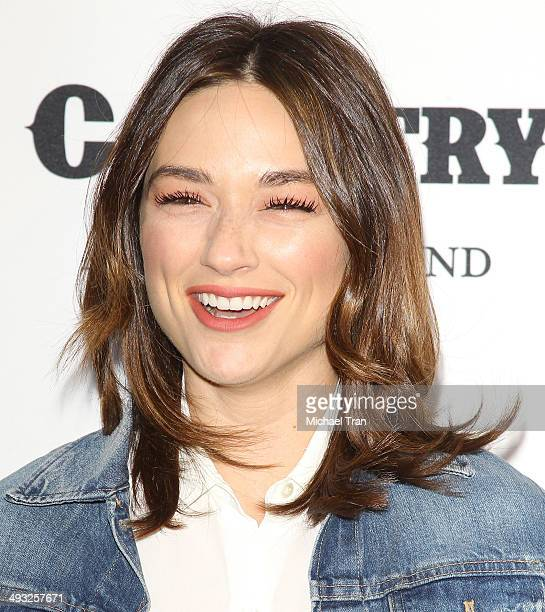 Crystal Reed arrives at the exhibit opening of 'Country Portraits Of An American Sound' held at Annenberg Space For Photography on May 22 2014 in...