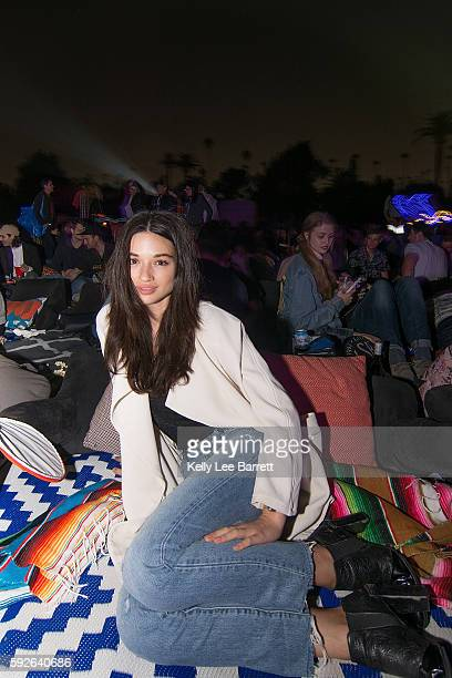 Crystal Reed attends Cinespia's screening of '2001 A Space Odyssey' held at Hollywood Forever on August 20 2016 in Hollywood California