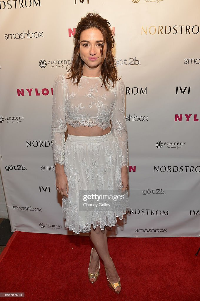 Crystal Reed attends NYLON And Onitsuka Tiger Celebrate The Annual May Young Hollywood Issue at The Roosevelt Hotel on May 14, 2013 in Hollywood, California.