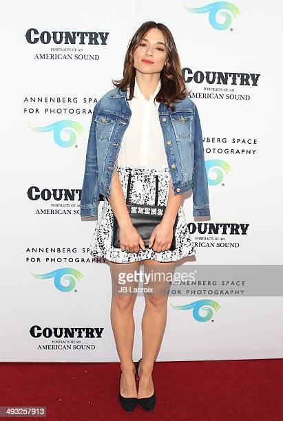 Crystal Reed attends the Annenberg Space for Photography Opening Celebration for 'Country Portraits of an American Sound' at the Annenberg Space for...