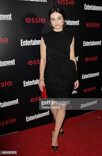 Crystal Reed attends the Entertainment Weekly SAG Awards preparty at Chateau Marmont on January 17 2014 in Los Angeles California