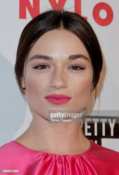 Crystal Reed attends the Nylon Magazine May young Hollywood issue party at Tropicana Bar at The Hollywood Rooselvelt Hotel on May 8 2014 in Hollywood...