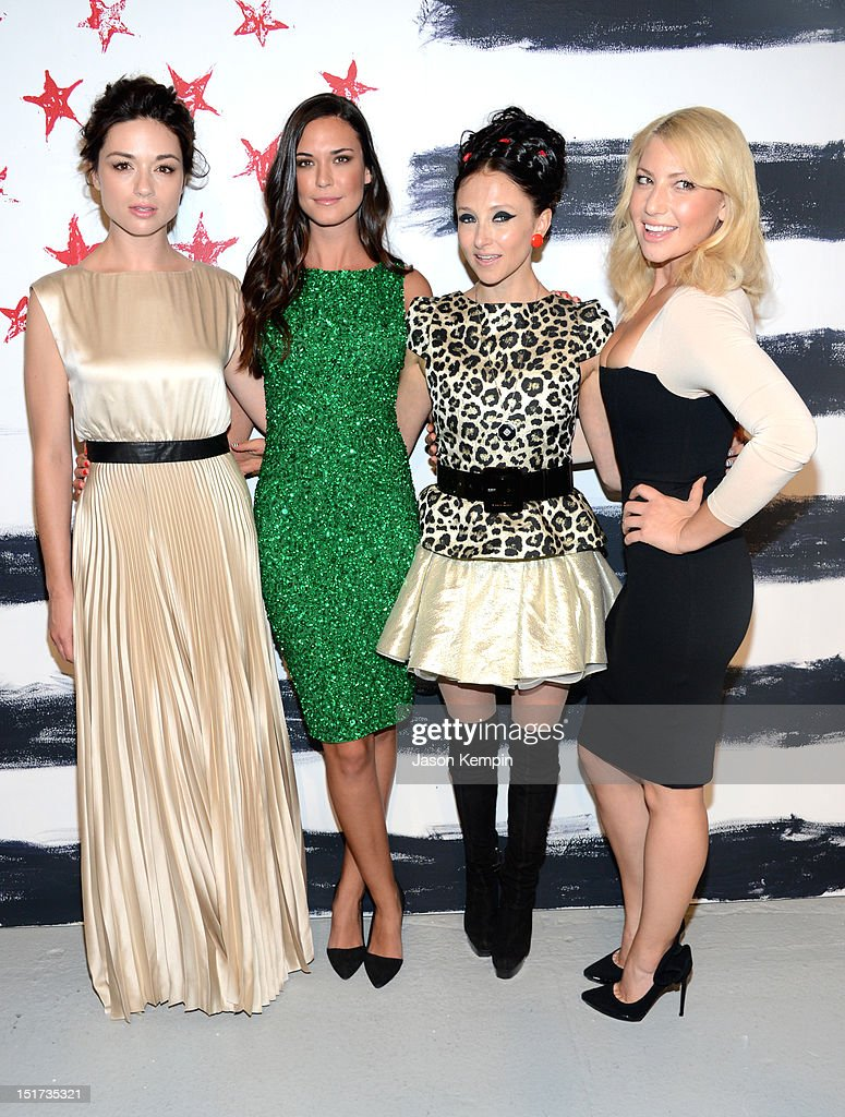 Crystal Reed, Odette Annable, designer Stacey Bendet, and Ari Graynor attend Alice + Olivia By Stacey Bendet Spring 2013 Mercedes-Benz Fashion Week at Century 548 on September 10, 2012 in New York City.