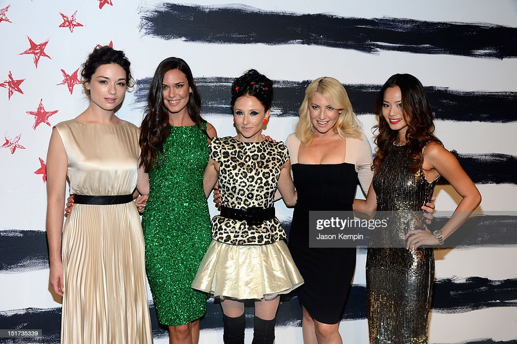 Crystal Reed, Odette Annable, designer Stacey Bendet, Ari Graynor, and Jamie Chung attend Alice + Olivia By Stacey Bendet Spring 2013 Mercedes-Benz Fashion Week at Century 548 on September 10, 2012 in New York City.