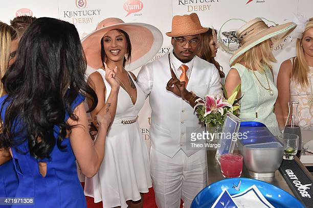 Crystal Renay and singersongwriter NeYo attend the GREY GOOSE Lounge at the 141st running of The Kentucky Derby at Churchill Downs on May 2 2015 in...