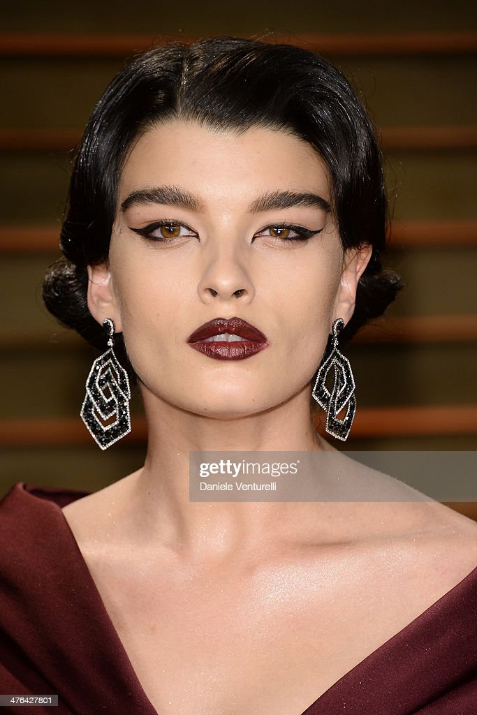 Crystal Renn arrives at the 2014 Vanity Fair Oscar Party Hosted By Graydon Carter on March 2, 2014 in West Hollywood, California.