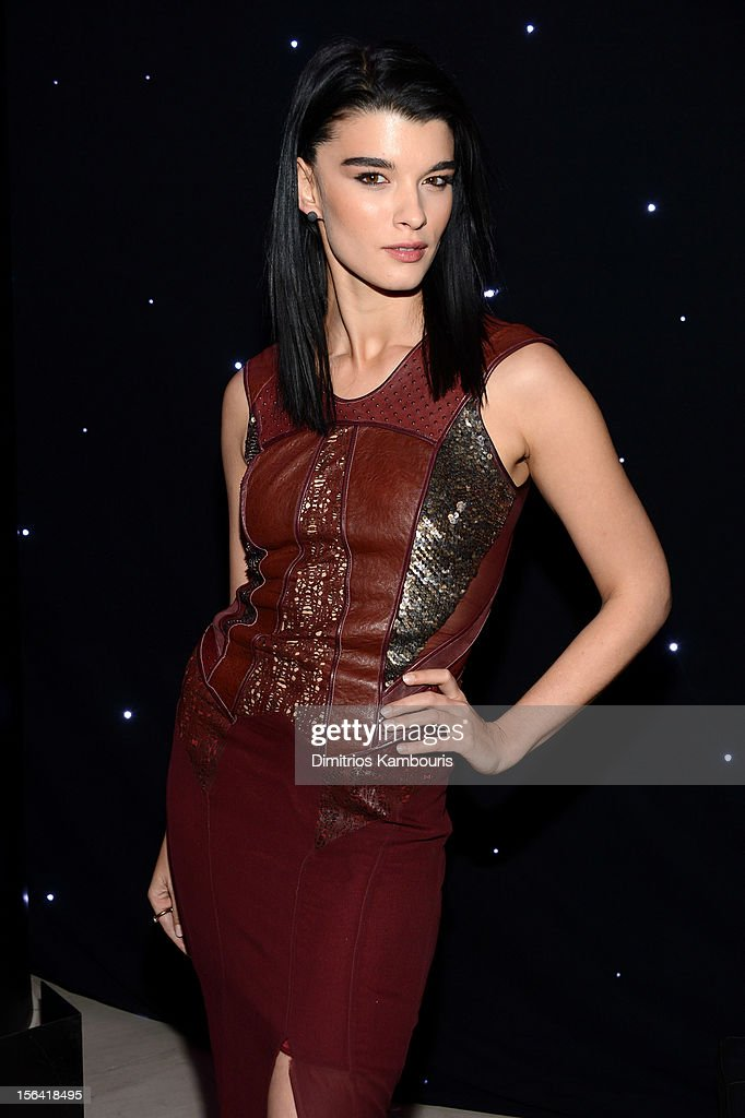 Crystal Renn attends Barneys New York And Disney Electric Holiday Window Unveiling Hosted By Sarah Jessica Parker, Bob Iger, And Mark Lee on November 14, 2012 in New York City.