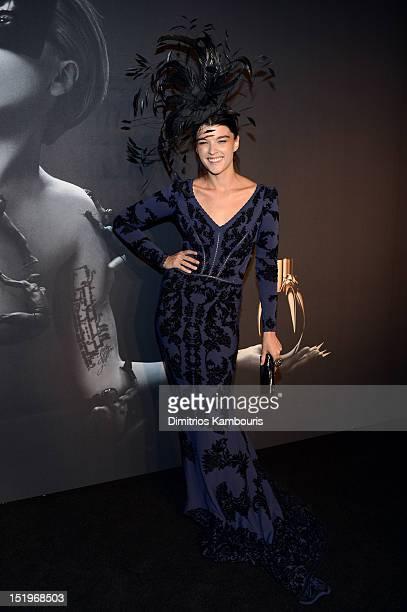 Crystal Renn attends Lady Gaga 'Fame' Eau de Parfum Launch Event at Guggenheim Museum on September 13 2012 in New York City