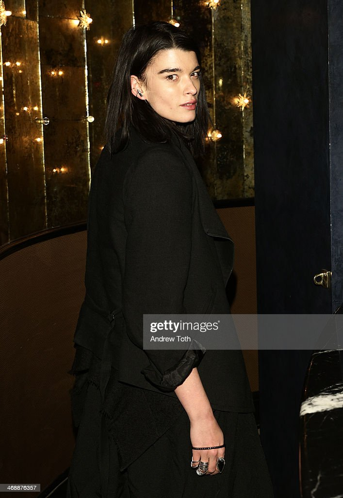Crystal Renn attends Miu Miu Women's Tales 7th Edition - 'Spark & Light' Screening - Inside at Diamond Horseshoe on February 11, 2014 in New York City.