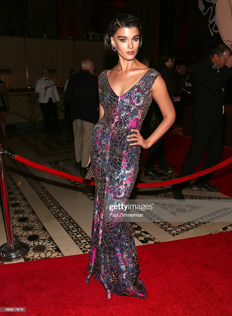 Crystal Renn attends the 14th Annual New Yorkers For Children Fall Gala at Cipriani 42nd Street on September 17, 2013 in New York City.