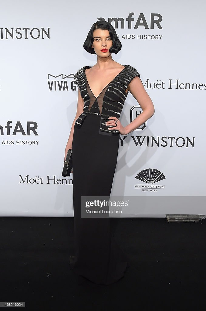 <a gi-track='captionPersonalityLinkClicked' href=/galleries/search?phrase=Crystal+Renn&family=editorial&specificpeople=2216376 ng-click='$event.stopPropagation()'>Crystal Renn</a> attends the 2015 amfAR New York Gala at Cipriani Wall Street on February 11, 2015 in New York City.