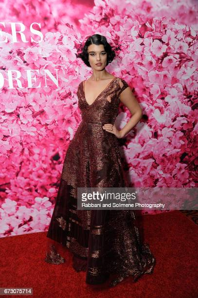 Crystal Renn attends the 2017 New Yorkers For Children's A Fool's Fete Enchanted Garden at Mandarin Oriental New York on April 25 2017 in New York...