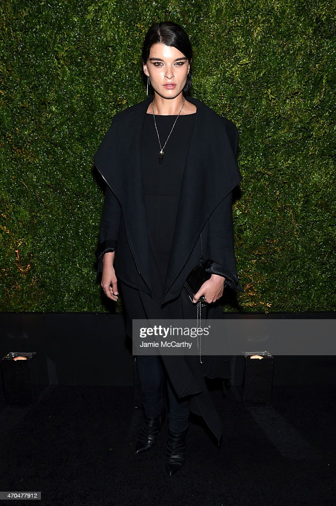 <a gi-track='captionPersonalityLinkClicked' href=/galleries/search?phrase=Crystal+Renn&family=editorial&specificpeople=2216376 ng-click='$event.stopPropagation()'>Crystal Renn</a> attends the Chanel Dinner during the 2015 Tribeca Film Festival at Balthazar on April 20, 2015 in New York City.