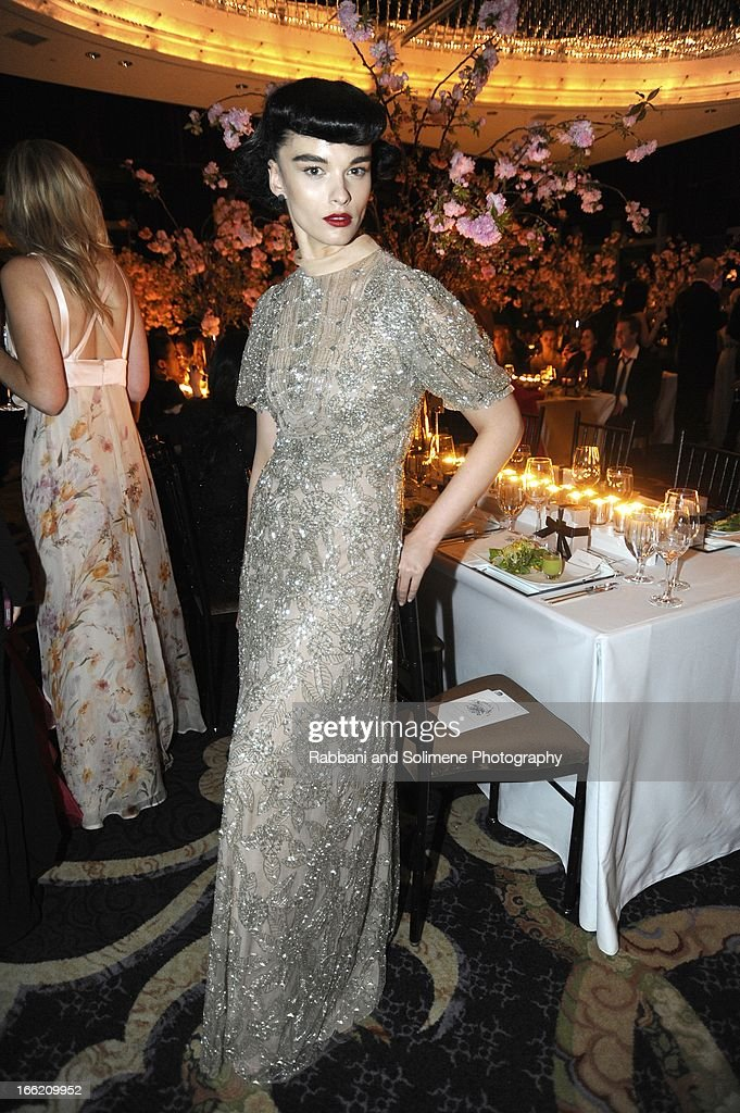 Crystal Renn attends the New Yorker's For Children's 10th Anniversary A Fool's Fete Spring Dance at Mandarin Oriental Hotel on April 9, 2013 in New York City.