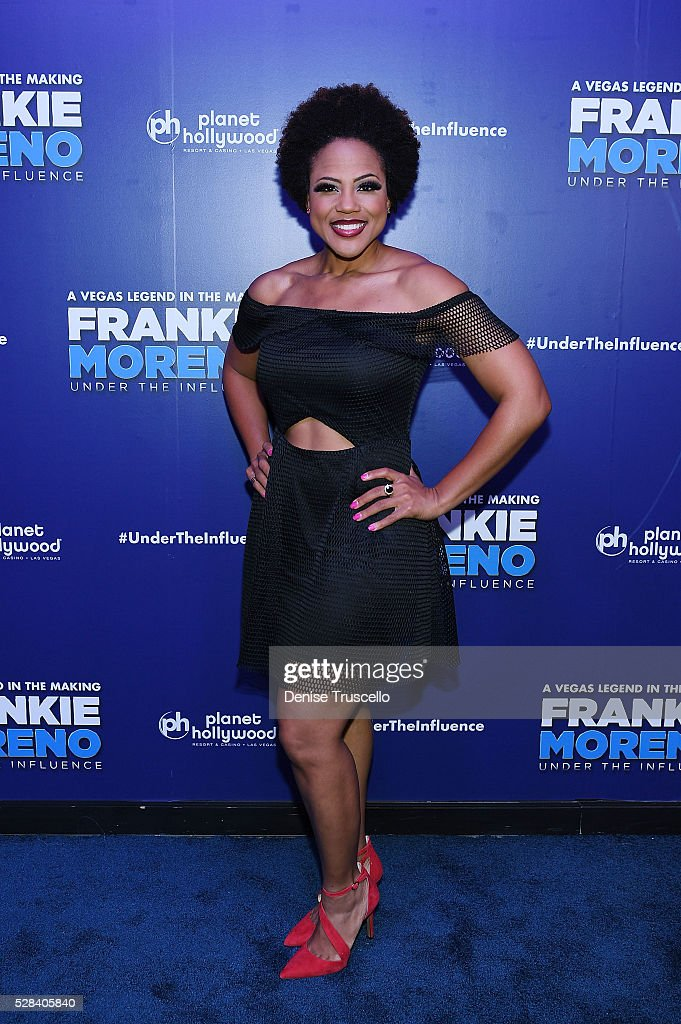 Crystal Robinson arrives at the opening night of Frankie Moreno��s new show�� �� Under The Influence at Planet Hollywood Resort Casino on May 4 2016...
