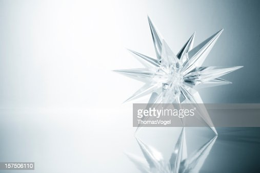 Crystal star. Ice Glass Snowflake Light Snow Art Christmas