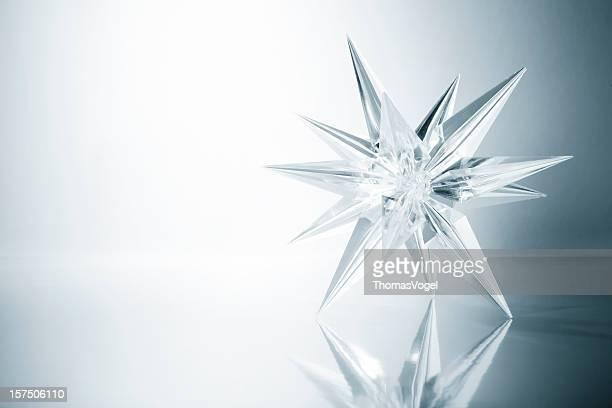 Estrelas de cristal. Copo de Gelado de neve de Natal Floco de Neve
