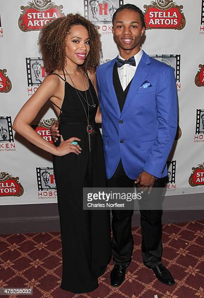 Crystal Taylor and Jeremy Strain Jr attend the 10th Anniversary Hoboken International Film Festival Opening Night Gala at The Paramount Theatre on...