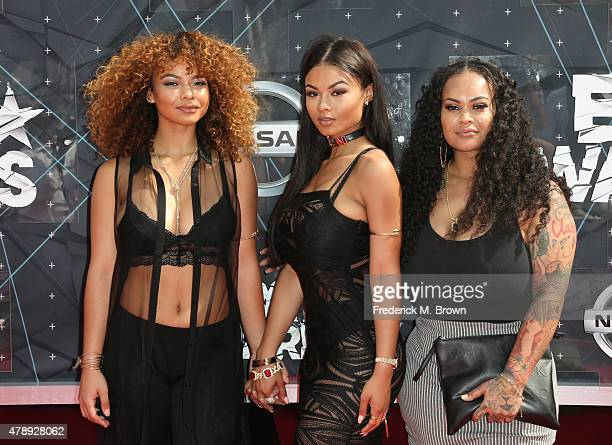 Crystal WestBrooks India Love Westbrooks and Morgan Westbrooks attend the 2015 BET Awards at the Microsoft Theater on June 28 2015 in Los Angeles...