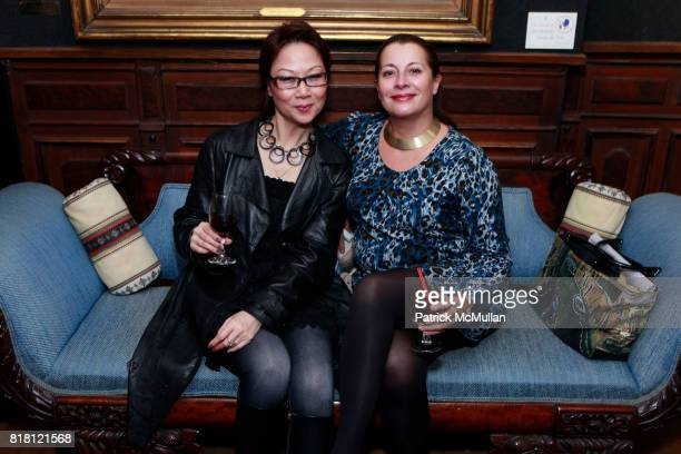 Crystal Wu and Frederique Beccari attend DIGSCOM Launch Party Presenting Designs by MEND And SAME SKY Benefiting Women In Africa at The National Arts...
