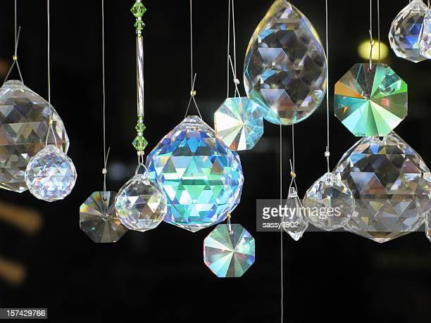 Cristaux de carreau verre suspendue